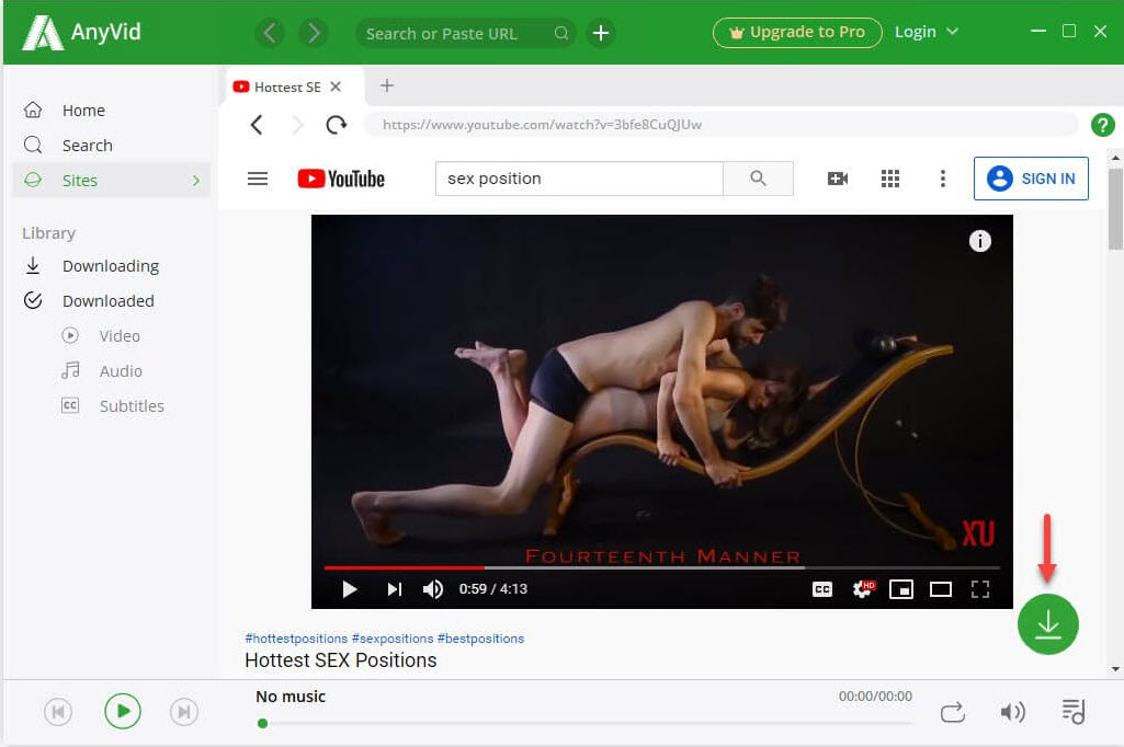 Hottest sex positions on YouTube