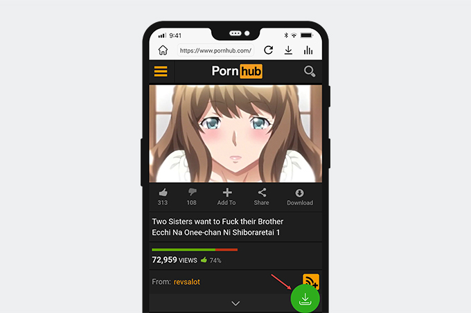 Convert Pornhub to MP4 on Android