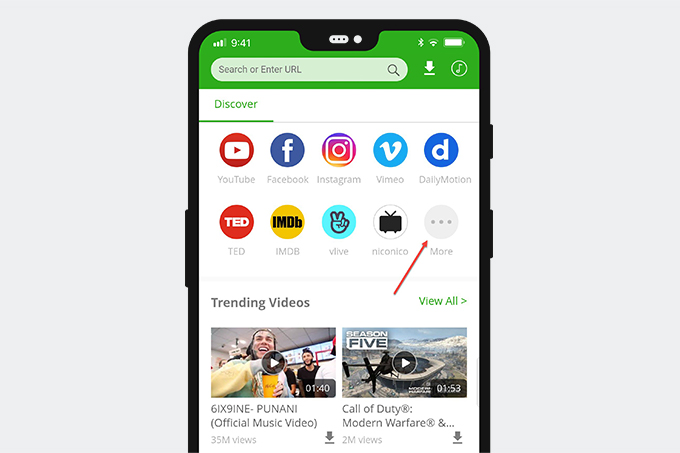 Check supported sites on 6Buses video downloader