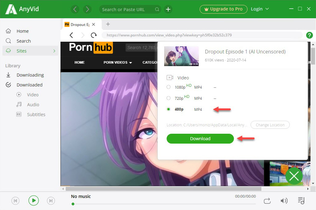 Pornhub download with 6Buses