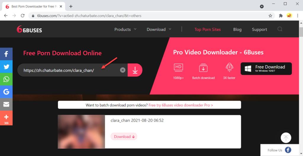 Paste the Chaturbate video URL